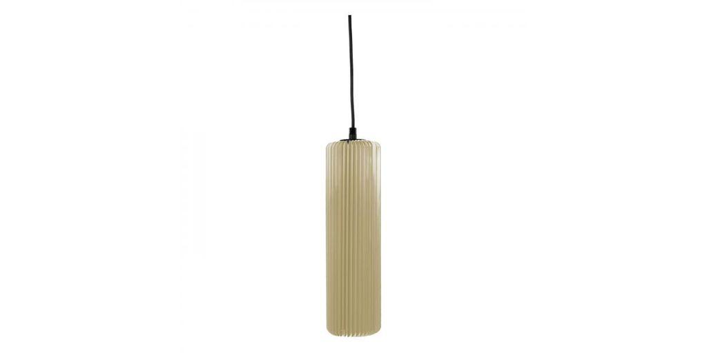 Exkluzív függesztett mennyezeti lámpa, 30 cm, cső alakú, bézs - FUSEAU